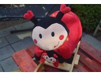 Animal Rocker Chair For Baby, Kids, Toddler, Children With Plush Seat (Ladybug)