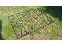 """Wrought Iron Gates 92"""" x 3' 334 x 91.5 cm"""
