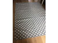 Handmade lattice grey rug by John Lewis (collection only)