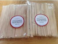 100 compostable birch knives