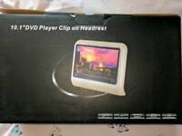 10. 1 inch dvd player car headset