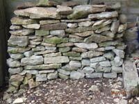 Cotswold walling stone.