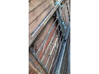 heavy duty steel security gate/ house/ garden gate with lock and key