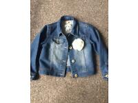 Girls denim jacket 4-5 years