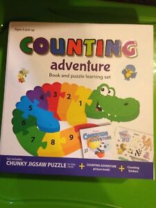 Counting adventure book and puzzle set
