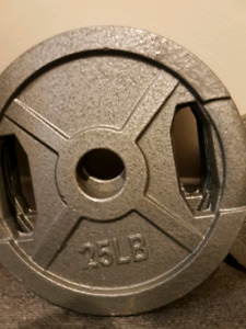 Olympic weights and bars 2 inch holes