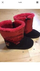 "MINNIE MOUSE ""ugg style"" winter boots girls size 9 sequins"