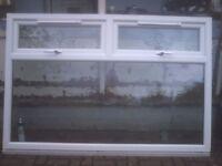 white upvc window size w74 in h49 in