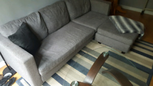 3 Seater and ottoman.