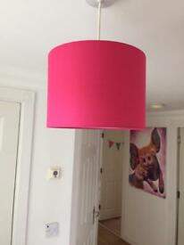 lampshades and matching curtains