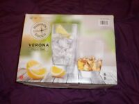 Verona 16 Pcs Glass Set by Bormioli_New_In Box_Bargain