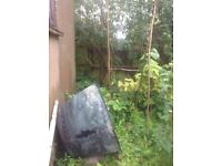 Victorian riveted copper boiler with outlet. Large