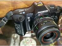 An olympus 35mm camera