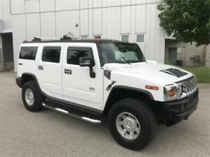 2005 HUMMER H2 4X4 SUNROOF LEATHER WHITE ON BLACK NAVIGATION