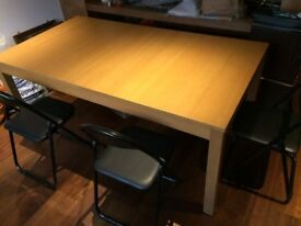 IKEA SOLID PINE EXTENDABLE / EXTENDING DINING STUDY TABLE