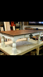 Handcrafted farmhouse coffee table New