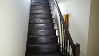 STAIRS RAILING AND FLOORING