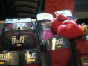 large selection of boxing equipment
