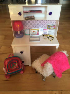 Doll desk / chair & toy backpack