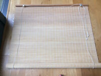 Roll up bamboo slat blind