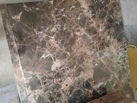 Brown/cream mosaic floor/wall tiles