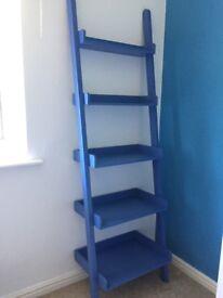M&S blue step ladder shelves/bookcase