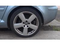 Audi alloy wheels and tyres 18inch