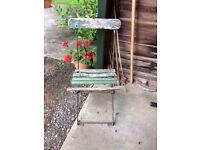 Vintage garden chair in need of restoration