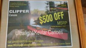 $500 off purchase of canoe