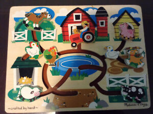 Melissa & Doug Animal Wooden Maze Puzzle
