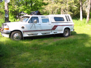 1996 Ford F-350 Diesel 7.3 Pickup Truck Towing 5th Wheel Hitch