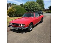 Triumph Stag Mk2 Convertible 1974, Manual with Overdrive, Red with Tan interior