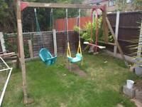 Swing set and 6ft slide