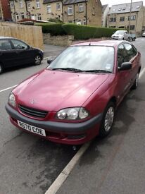 1.6 S Toyota Avensis for sale. Maroon. Had for 13 years and used daily with no problems.