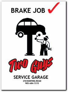Two Guys Service Garage - Brake Inspections 19.95
