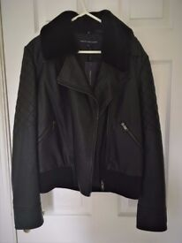 French Connection Black Leather Look Jacket