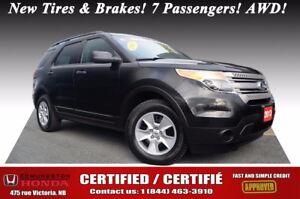2013 Ford Explorer AWD Certified! New Tires & Brakes! 7 Passenge