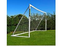 Pair of Football Goals (12ft x 6ft) including carry cases - as new condition