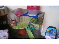 pet rat cage and accessories