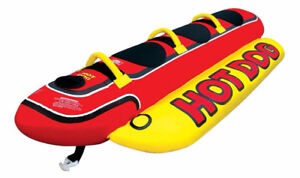 "HOT DOG 3 Person Inflatable Towable Tube ""Great for Kids"""