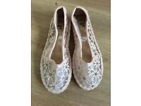 Brand New girls shoes size infant 10 but I would say it is size 9 Insole 17cm can post
