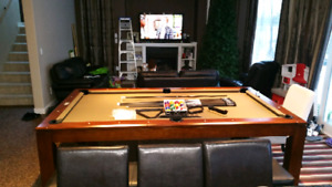 Pool table and dinning table