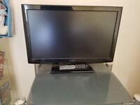 "Hitachi 24"" flat screen with in built dvd"