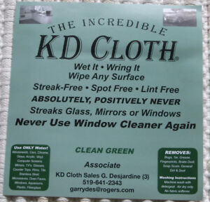 "The original - ""The Incredible KD Cloth"""