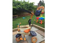 Blue & orange smart trike