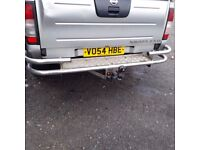 Nissan navara D22 rear chrome bumper with towbar