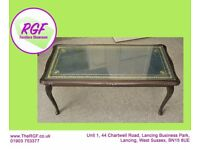 Coffee Table With Glass Top - Great Shabby Chic Paint Project - Can Deliver for £19