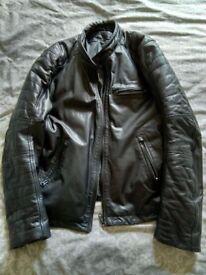 For sale a Aviatrix retro black leather jacket, hardly worn.