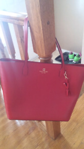 Bright red authentic Kate Spade bag.