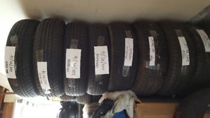 VARIOUS SIZES USED TIRES FOR SALE